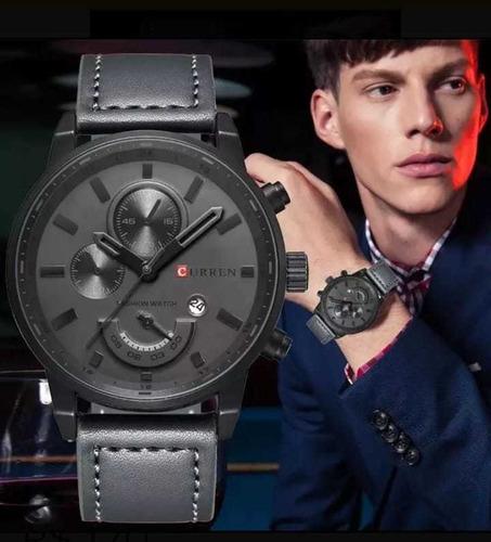 relógio masculino curren 8217 original + brinde