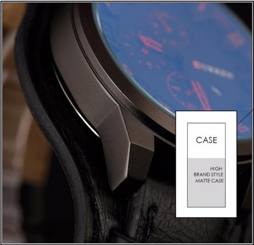 relógio masculino curren 8225 original preto +carteira couro
