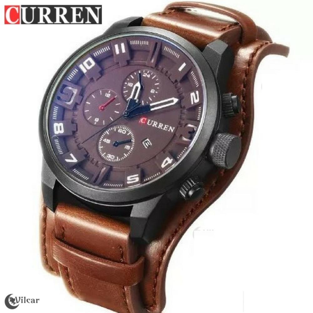 e53acdac403 relógio masculino curren 8225 original - pulseira em couro. Carregando zoom.