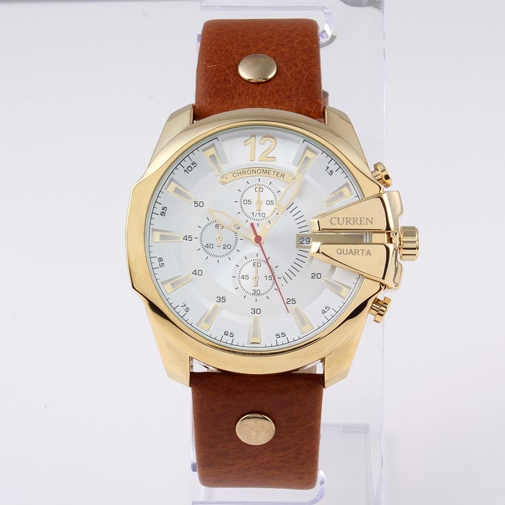 b5263c423e4 Relógio Masculino Curren 8176 Original Em Promoção!!! Barato - R ...