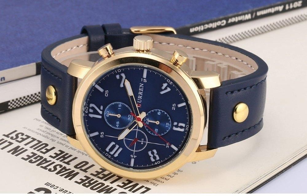 ac4cc35a1cf Relógio Masculino Curren Promoção Pulseira Couro - R  77