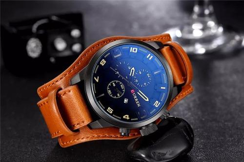 3c44934dd6c Relógio Masculino Curren Original C-8225 Couro Calendário - R  149 ...
