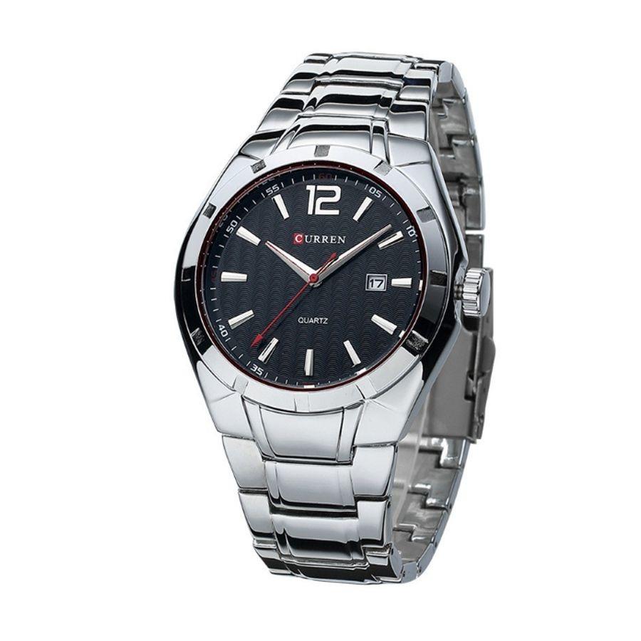 a0547c9324e Relógio Masculino Curren Analógico 8103 Prata E Preto - R  101