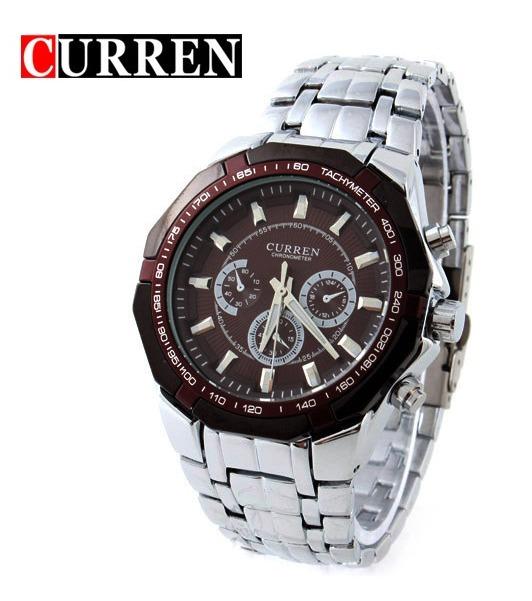 b8b1e7007dc Relógio Masculino Curren A Prova D água 30m Pulseira De Aço - R ...