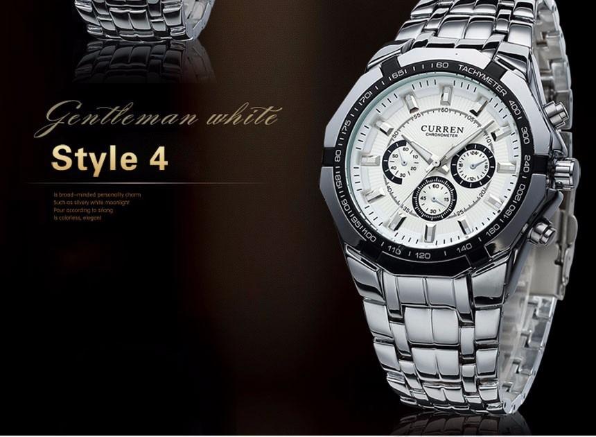01ddc2f160c relógio masculino curren a prova d água 30m pulseira de aço! Carregando  zoom.