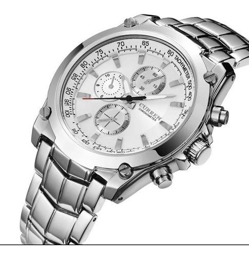 relógio masculino curren aço inoxidável m.8025