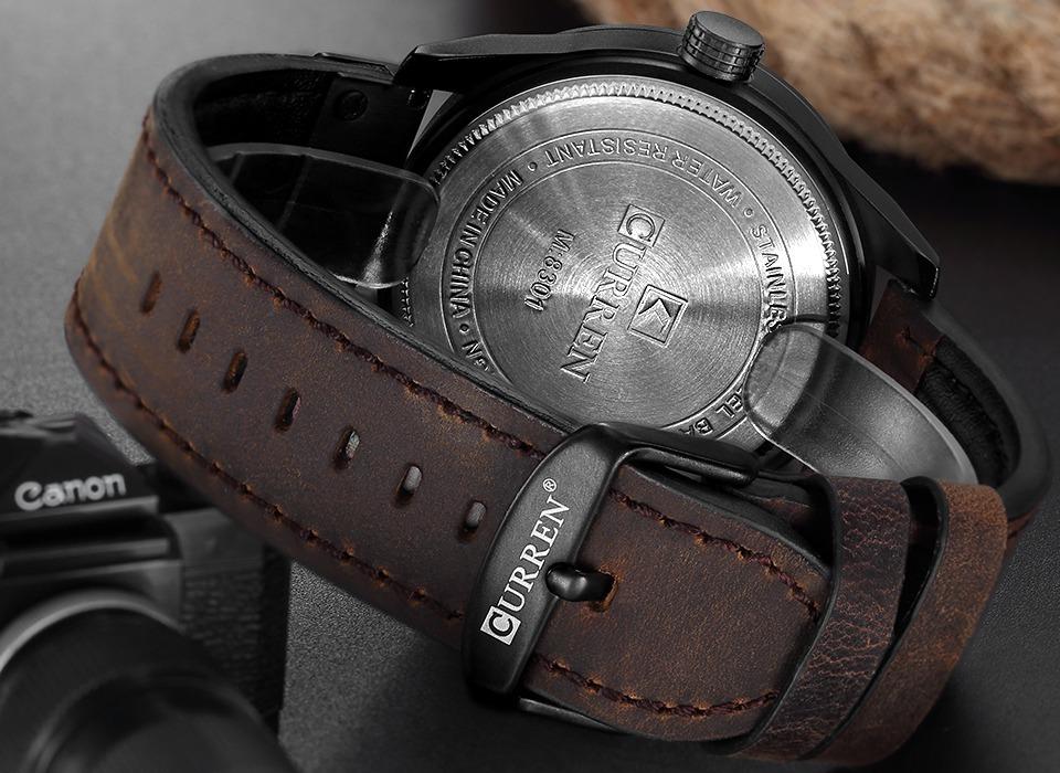 d2b22ce141f relógio masculino curren luxo aço inox + pulseira crucifixo. Carregando zoom .