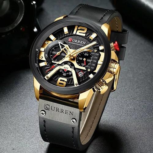 relógio masculino curren luxo - lançamento 2019
