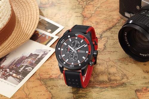 relógio masculino curren luxo quartzo 8250 / original