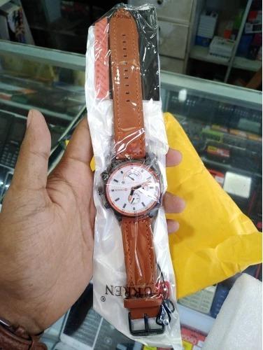 relógio masculino curren - original, + caixa
