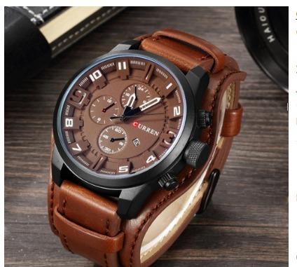 e96f8d28e9edf Relógio Masculino Curren Original Promoção. - R  115
