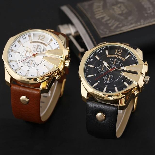 7c8e870882a Relogio Masculino Curren Ouro Homens Relógios Top Marca Luxo - R ...