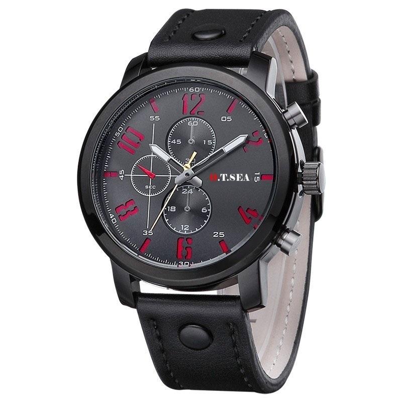 9a43d895d27 relógio masculino curren promoção pulseira couro. Carregando zoom.