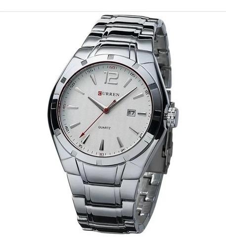 relógio masculino curren pulseira de aço promoção s.49