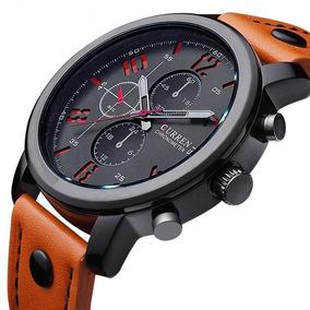 f0f91ebf4 Relógio Masculino Curren Pulseira De Couro Esportivo Militar