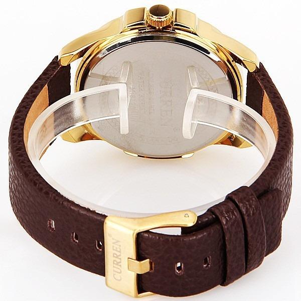 e60c576ea65 Relógio Masculino Curren - Pulseira De Couro Modelo De Luxo - R  138 ...