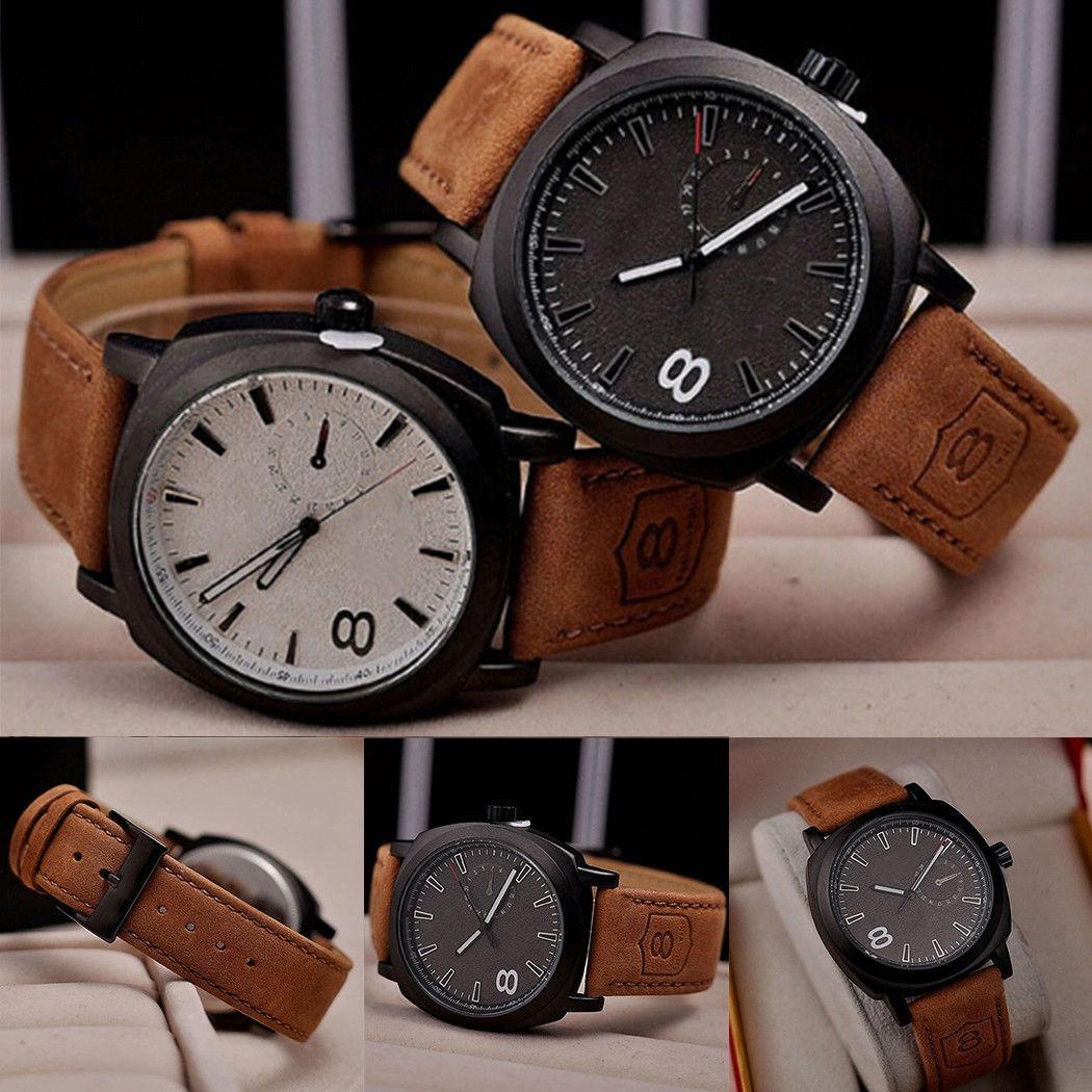 747168d1984 relógio masculino de luxo curren 8139 quartz pulseira couro. Carregando  zoom.