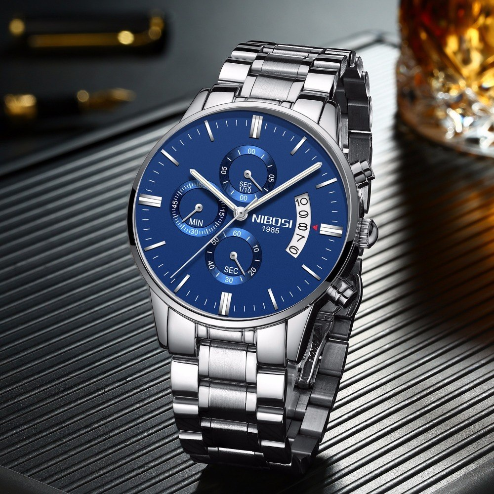 a9028b9080e Relógio Masculino De Luxo Original Nibosi - R  185