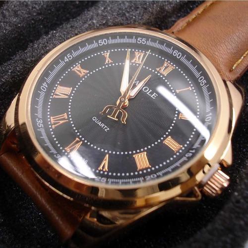 relogio masculino de luxo pulseira de couro  c336