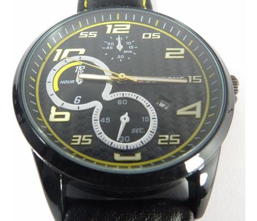 relógio masculino de pulso justrong original no:168003 preto