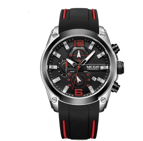 relógio masculino de pulso megir - yyabp7h24