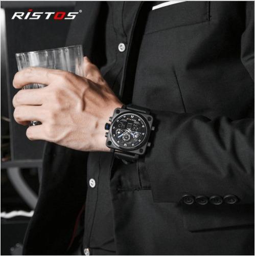 relógio masculino de pulso multifuncional ristos