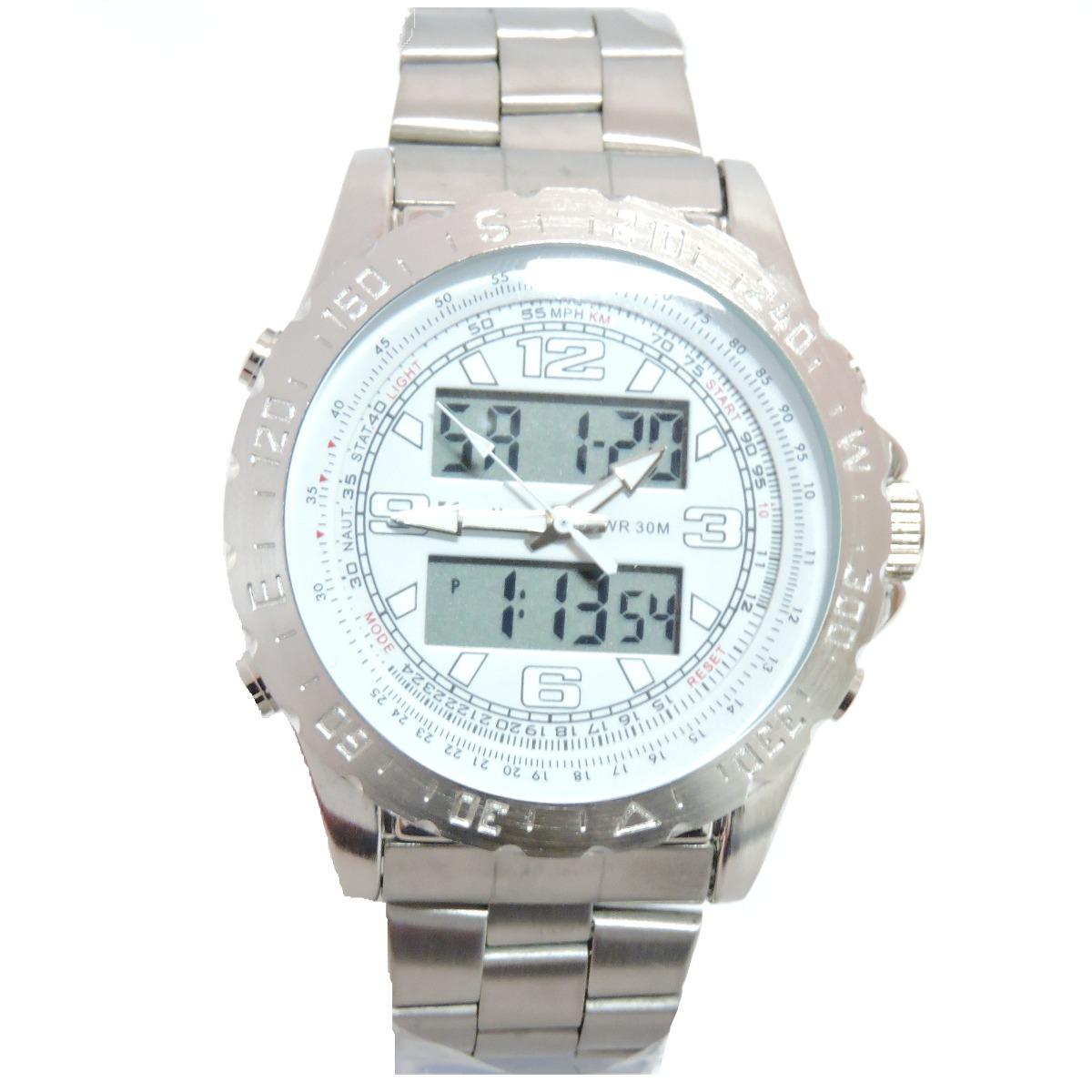 5a0cf544b93 relógio masculino de pulso original redley prata e branco. Carregando zoom.