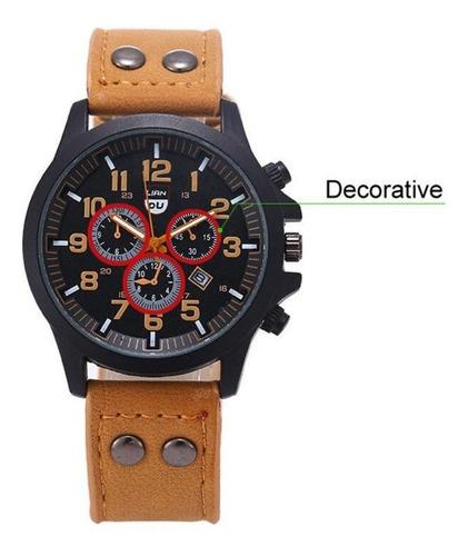 relógio masculino de pulso quartz exército impermeável