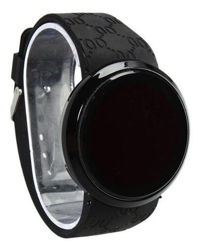relógio masculino de pulso silicone digital led touch screen