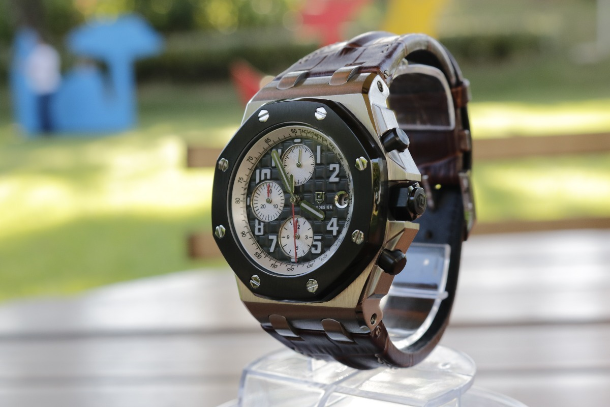 36851a4b77b relógio masculino didun design pulseira couro luxo original. Carregando  zoom.