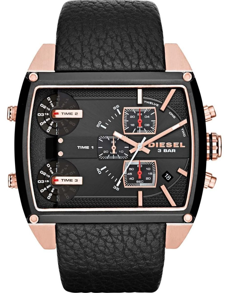 be9a84d71a9 Relógio Masculino Diesel Dz7351 2pn 52mm Couro Preto - R  1.314
