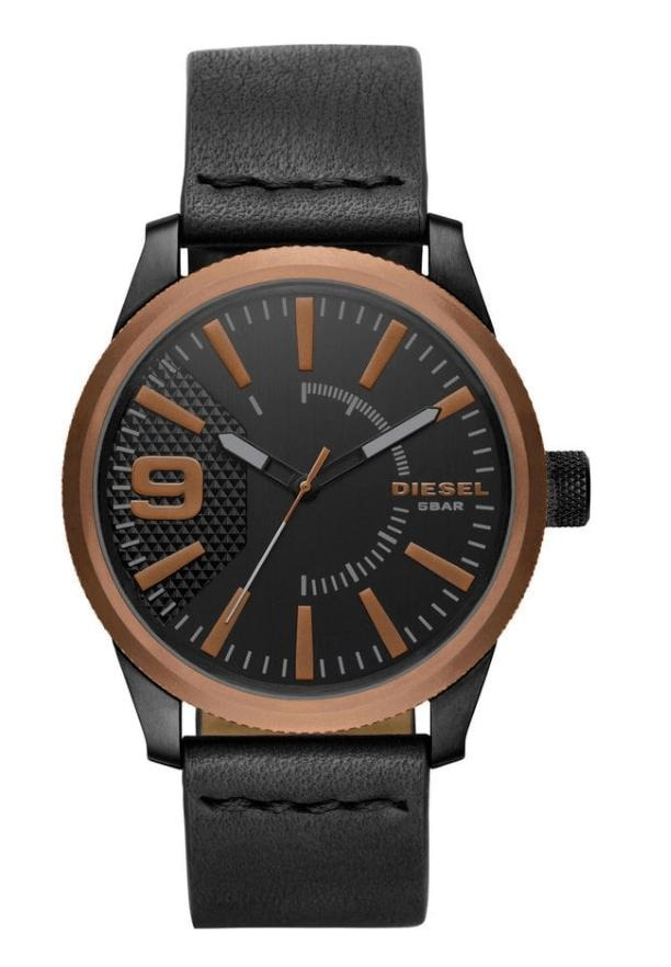 21ed9e4f1385d Relógio Masculino Diesel Dz1841 0pi Couro Preto 47mm - R  844,95 em ...