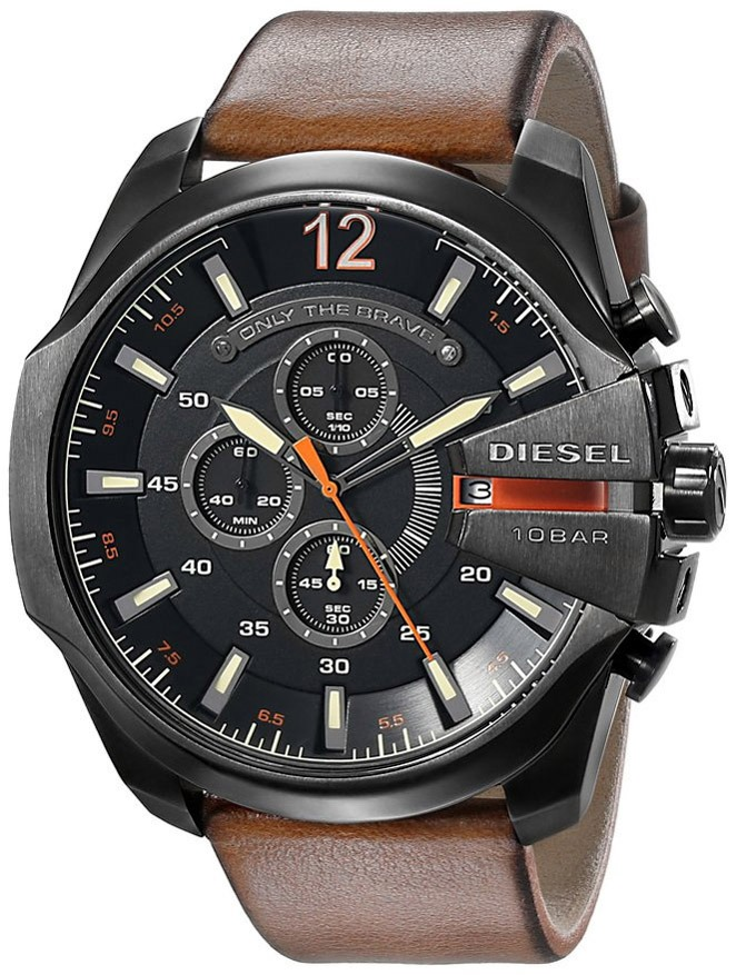 79885ec24a1 Relógio Masculino Diesel Dz4343 0pi 52mm Couro Marrom - R  1.090