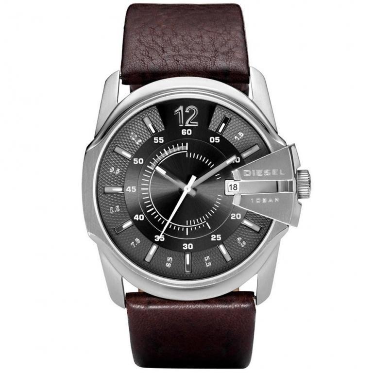 33e7016e2feba Relógio Masculino Diesel Dz1206 0cn 44mm Couro Marrom Escuro - R ...