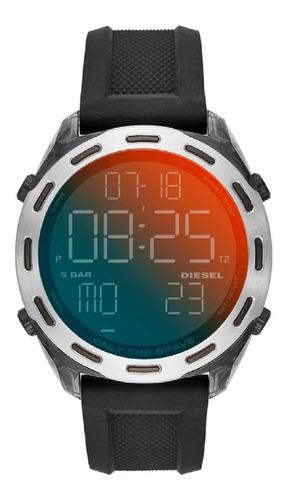 relógio masculino diesel digital dz1893/8pn furtacor preto