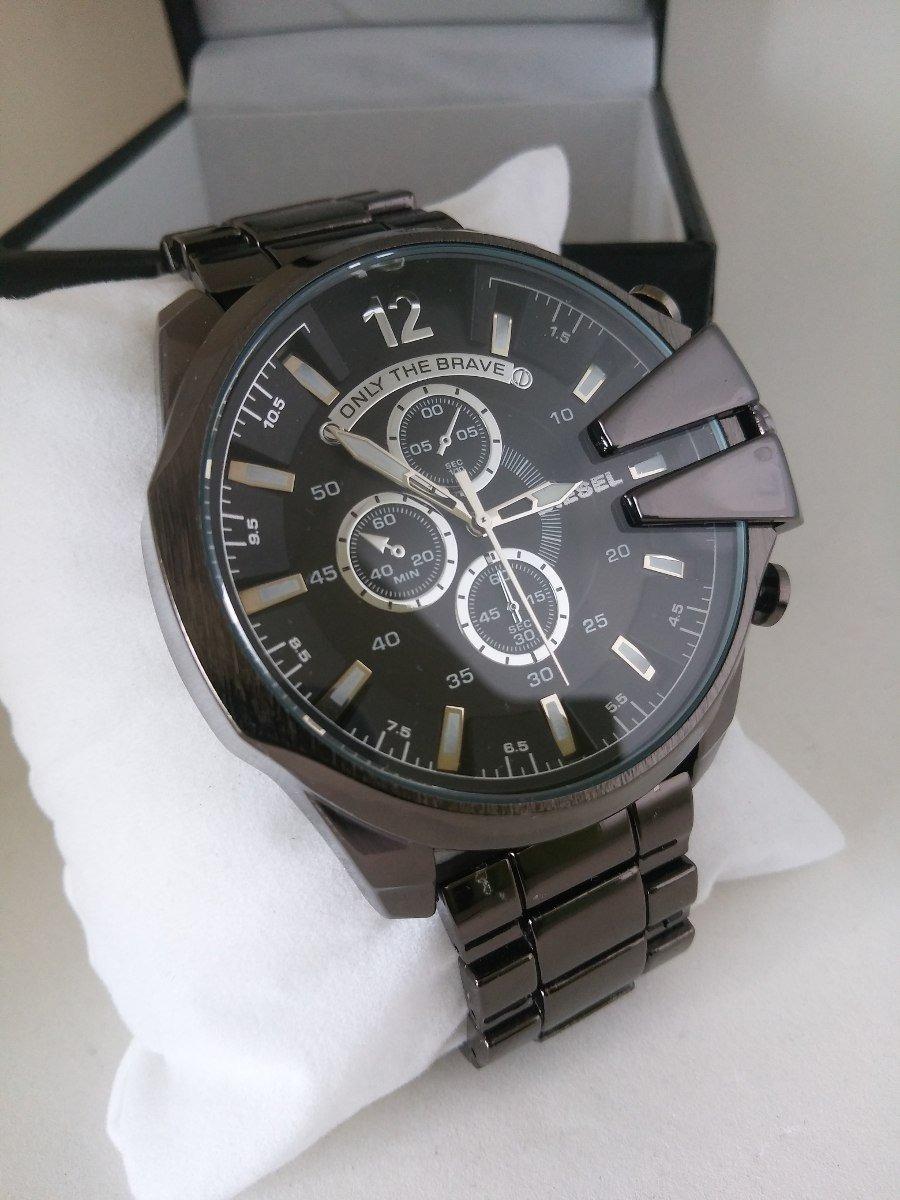 e29f578ab9a relógio masculino diesel pulseira aço preto promoção + caixa. Carregando  zoom.