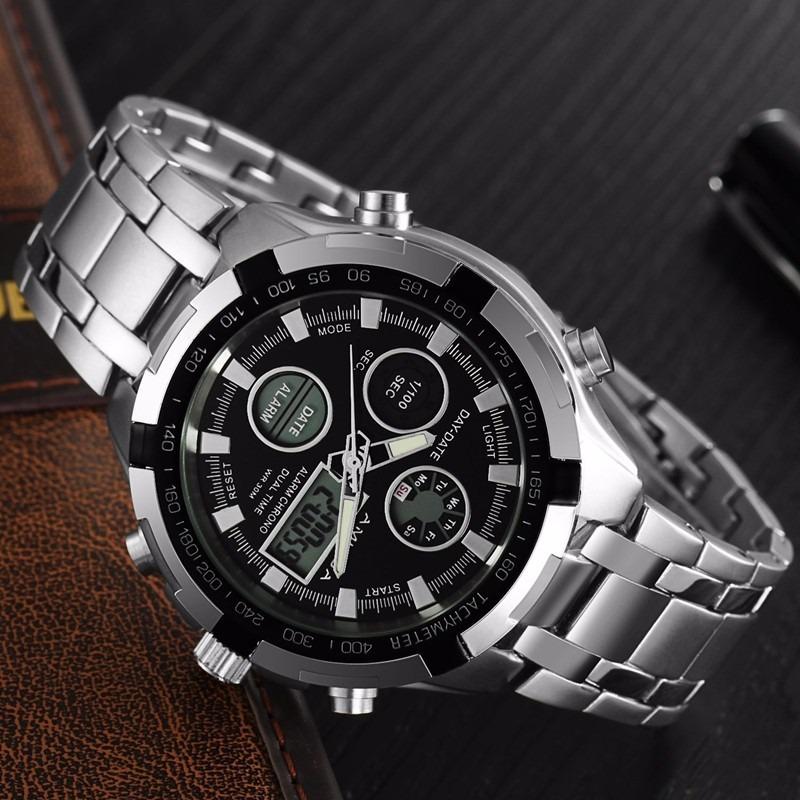 27a30b52c89 relógio masculino digital analógico luxo amuda promoção. Carregando zoom.