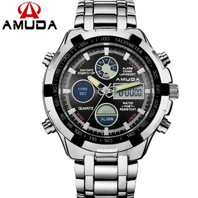 014ecab0aad Relógio Masculino Digital Analógico Luxo Amuda Promoção. - R  120