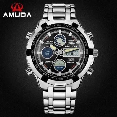 bc63ab47f57 Relógio Masculino Digital Analógico Luxo Amuda Promoção. - R  120