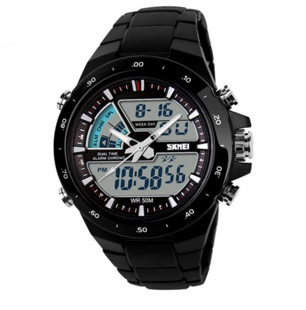 48da1a26290 Relógio Masculino Digital Analógico Skmei Preto - R  129