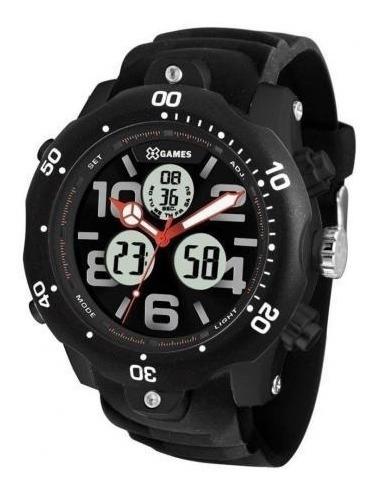 relógio masculino digital analógico x-games xmppa221 p2px