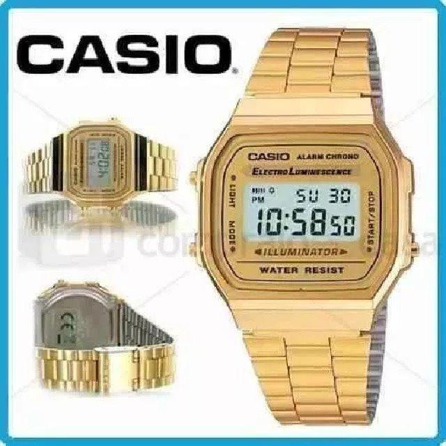 6e9e4f3278d4 Relógio Masculino Digital Barato Casio A-168wa-1wdf Vintage - R  59 ...