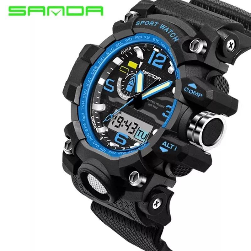 2a648bd7f2d relógio masculino digital black esportivo aprova d água shok. Carregando  zoom.