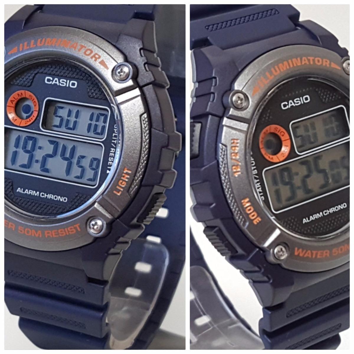 d8842cd1335 relógio masculino digital casio cronômetro luz w-216h-2bvdf. Carregando zoom .