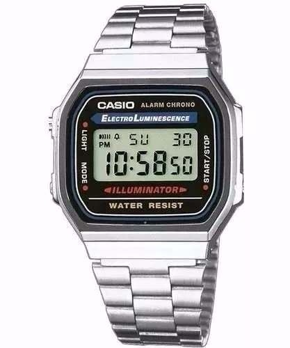 cb6ce18f1a9 Relógio Masculino Digital Casio Retro Prata Vintage Original - R ...