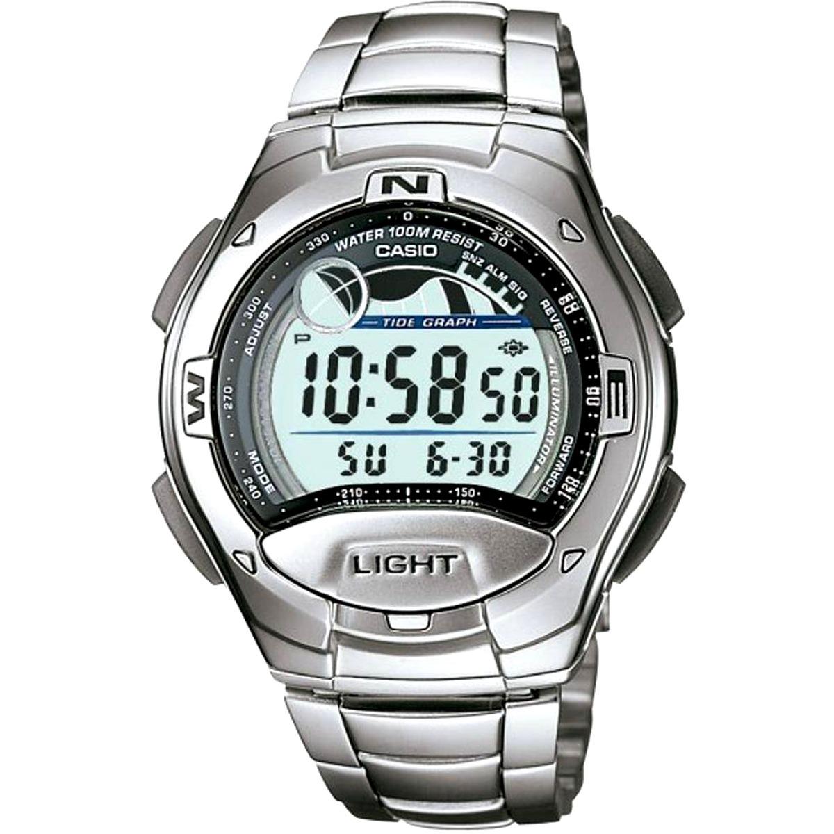 e822cb83f51 relógio masculino digital casio w-753d-1avdf - prata. Carregando zoom.