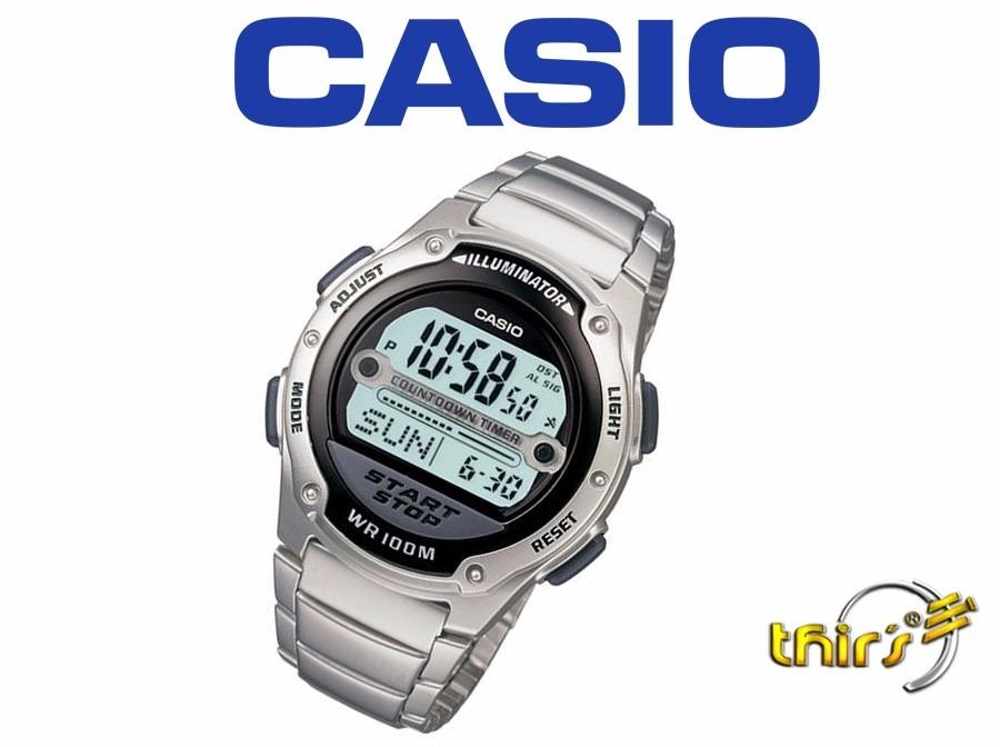 relógio masculino digital casio w-756-1avdf original prata. Carregando zoom. 5a6d92f38a