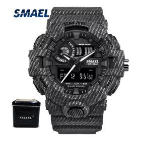 Relógio Masculino Digital E Analogico Smael 8001 Camuflado
