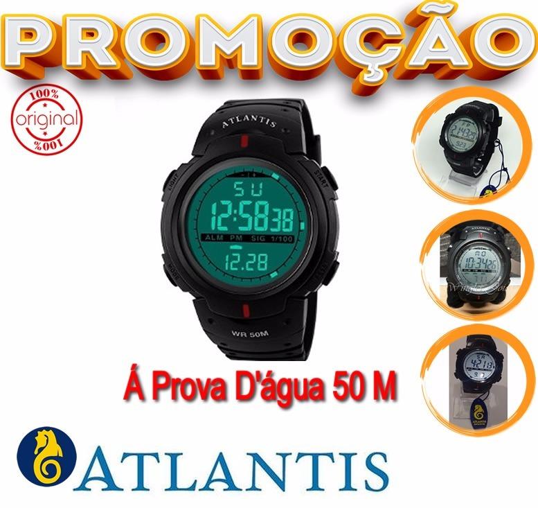 3ed063e71f4 Relógio Masculino Digital Esporte Prova D Água Militar - R  70