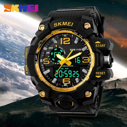 relógio masculino digital esportivo prova d'água skmei 1155